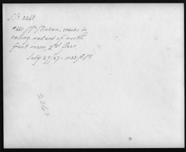 Rapid Transit Photographs -- Box 12, Folder 56 (July 29, 1927) -- print, 1927-07-29, 11:33 A.M. (back of photograph)