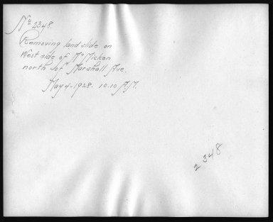 Rapid Transit Photographs -- Box 12, Folder 58 (May 4, 1928 - May 7, 1928) -- print, 1928-05-04, 10:10 A.M. (back of photograph)