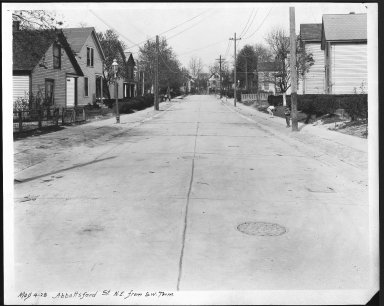 Street Improvement Photographs -- Box 21, Folder 01 (Abbottsford Street) -- print, 1928-05-04