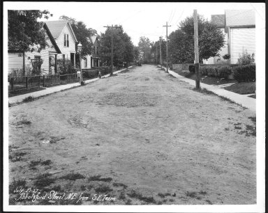 Street Improvement Photographs -- Box 21, Folder 01 (Abbottsford Street) -- print, 1927-07-27