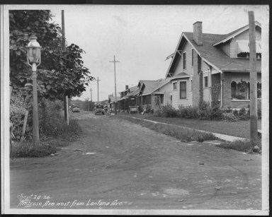 Street Improvement Photographs -- Box 21, Folder 03 (Ambrose Avenue) -- print, 1926-09-24