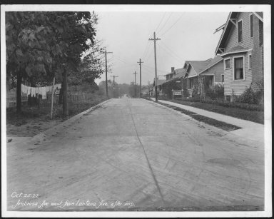 Street Improvement Photographs -- Box 21, Folder 03 (Ambrose Avenue) -- print, 1927-10-25