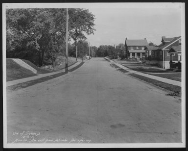 Street Improvement Photographs -- Box 21, Folder 05 (Amelia Avenue) -- print, 1931-10-06