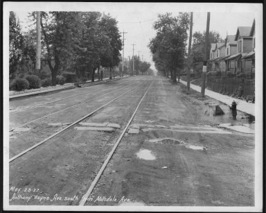 Street Improvement Photographs -- Box 21, Folder 06 (Anthony Wayne Avenue) -- print, 1927-05-23