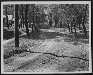 Street Improvement Photographs -- Box 21, Folder 07 (Armada Place) -- print, 1920-08-16