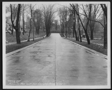 Street Improvement Photographs -- Box 21, Folder 07 (Armada Place) -- print, 1930-11-14