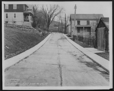 Street Improvement Photographs -- Box 21, Folder 09 (Arthur Place) -- print, 1933-02-17