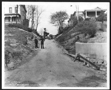 Street Improvement Photographs -- Box 21, Folder 10 (Aspasia Street) -- print, 1938-04-06
