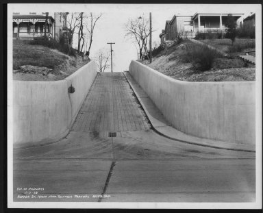 Street Improvement Photographs -- Box 21, Folder 10 (Aspasia Street) -- print, 1938-11-07
