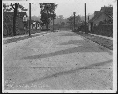 Street Improvement Photographs -- Box 21, Folder 12 (Azalea Avenue) -- print, 1927-10-24