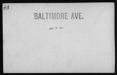 Street Improvement Photographs -- Box 21, Folder 16 (Baltimore Avenue) -- print, 1929-12-06 (back of photograph)