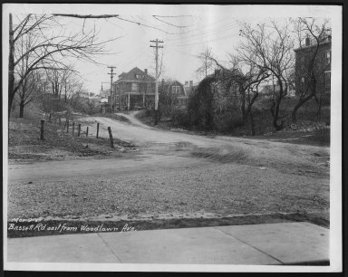 Street Improvement Photographs -- Box 21, Folder 19 (Bassett Road) -- print, 1927-03-09
