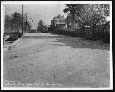 Street Improvement Photographs -- Box 21, Folder 19 (Bassett Road) -- print, 1927-10-28