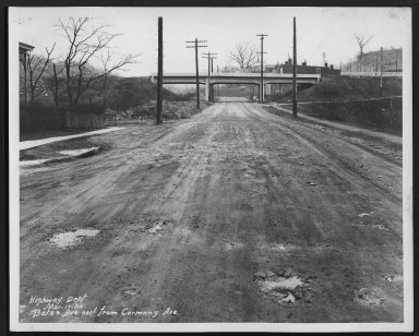 Street Improvement Photographs -- Box 21, Folder 20 (Bates Avenue) -- print, 1930-03-17