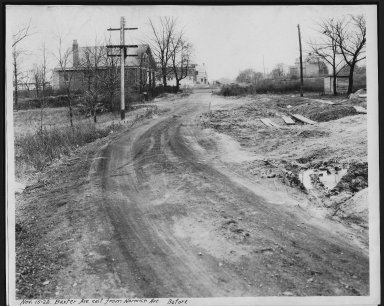 Street Improvement Photographs -- Box 21, Folder 21 (Baxter Avenue) -- print, 1928-11-15