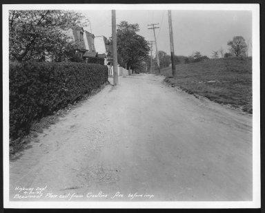 Street Improvement Photographs -- Box 21, Folder 22 (Beaumont Place) -- print, 1931-04-30