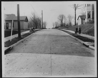Street Improvement Photographs -- Box 21, Folder 23 (Beaver Avenue) -- print, 1929-11-09