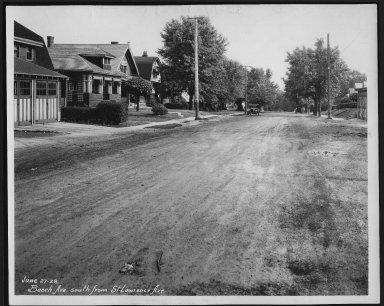 Street Improvement Photographs -- Box 21, Folder 24 (Beech Avenue) -- print, 1928-06-27