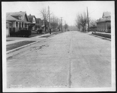 Street Improvement Photographs -- Box 21, Folder 24 (Beech Avenue) -- print, 1929-01-04