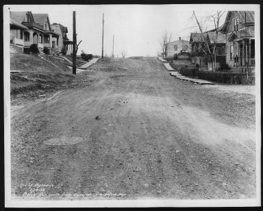 Street Improvement Photographs -- Box 21, Folder 24 (Beech Avenue) -- print, 1932-03-24