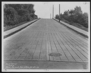 Street Improvement Photographs -- Box 21, Folder 24 (Beech Avenue) -- print, 1932-09-24