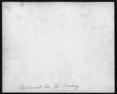 Street Improvement Photographs -- Box 21, Folder 25 (Beechmont Avenue) -- print, 1930-04-03 (back of photograph)
