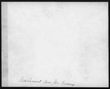 Street Improvement Photographs -- Box 21, Folder 25 (Beechmont Avenue) -- print, 1930-04-05 (back of photograph)