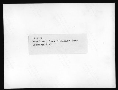 Street Improvement Photographs -- Box 21, Folder 25 (Beechmont Avenue) -- print, 1931 (back of photograph)