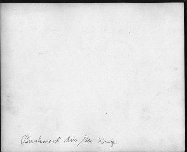 Street Improvement Photographs -- Box 21, Folder 27 (Beechmont Avenue) -- print, 1931-01-26 (back of photograph)