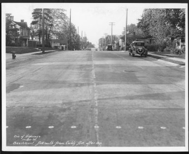 Street Improvement Photographs -- Box 21, Folder 28 (Beechmont Avenue) -- print, 1931-10-20