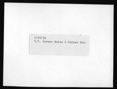 Street Improvement Photographs -- Box 21, Folder 31 (Betts Avenue) -- print, 1936 (back of photograph)