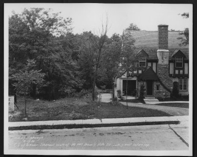 Street Improvement Photographs -- Box 21, Folder 32 (Beverly Hills Dr.) -- print, 1932-08-25