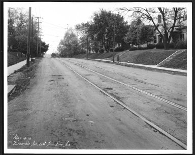 Street Improvement Photographs -- Box 21, Folder 36 (Bramble Avenue) -- print, 1928-05-18