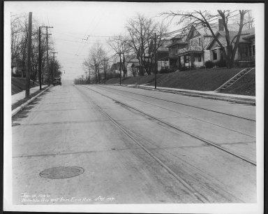 Street Improvement Photographs -- Box 21, Folder 36 (Bramble Avenue) -- print, 1929-01-10