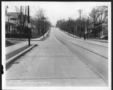 Street Improvement Photographs -- Box 21, Folder 36 (Bramble Avenue) -- print, 1929-01-10