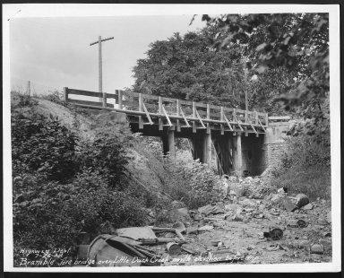 Street Improvement Photographs -- Box 21, Folder 36 (Bramble Avenue) -- print, 1930-07-26