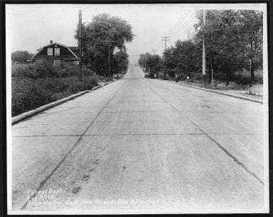 Street Improvement Photographs -- Box 21, Folder 37 (Bramble Avenue) -- print, 1929-08-10