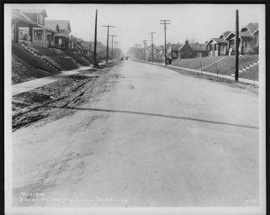 Street Improvement Photographs -- Box 21, Folder 37 (Bramble Avenue) -- print, 1929-03-02