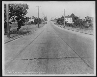 Street Improvement Photographs -- Box 21, Folder 37 (Bramble Avenue) -- print, 1929-06-25
