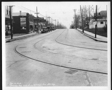 Street Improvement Photographs -- Box 21, Folder 37 (Bramble Avenue) -- print, 1929-01-10