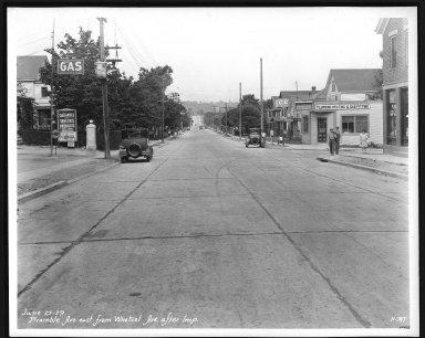 Street Improvement Photographs -- Box 21, Folder 38 (Bramble Avenue) -- print, 1929-06-25