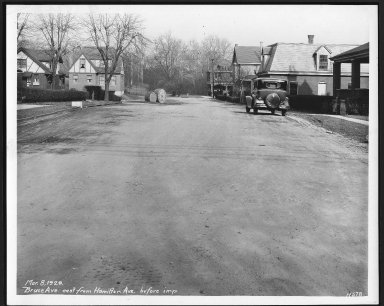 Street Improvement Photographs -- Box 21, Folder 41 (Bruce Avenue) -- print, 1929-03-08
