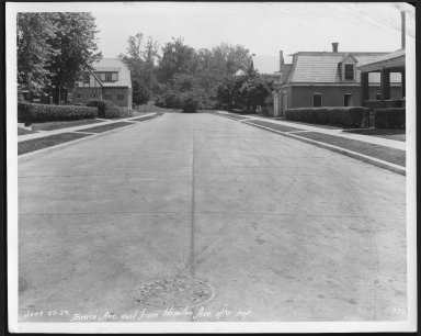Street Improvement Photographs -- Box 21, Folder 41 (Bruce Avenue) -- print, 1929-06-27