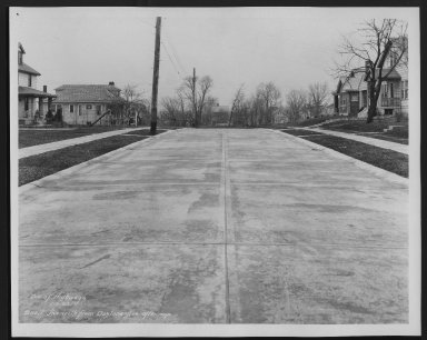 Street Improvement Photographs -- Box 21, Folder 43 (Buell Street) -- print, 1933-02-07