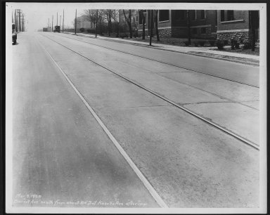 Street Improvement Photographs -- Box 21, Folder 44 (Burnet Avenue) -- print, 1929-03-09