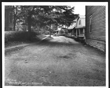 Street Improvement Photographs -- Box 21, Folder 46 (Burr Oak) -- print, 1928-05-21