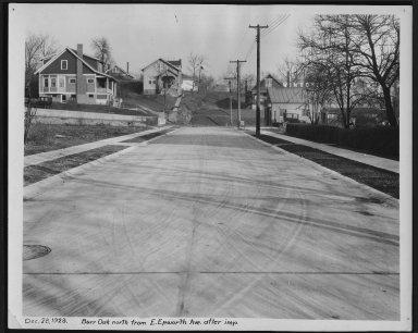 Street Improvement Photographs -- Box 21, Folder 46 (Burr Oak) -- print, 1928-12-28