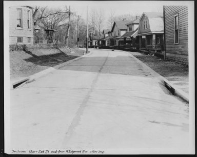 Street Improvement Photographs -- Box 21, Folder 46 (Burr Oak) -- print, 1929-01-21
