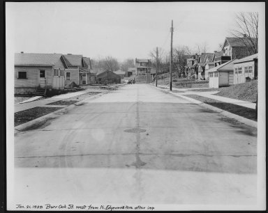 Street Improvement Photographs -- Box 21, Folder 46 (Burr Oak) -- print, 1929-01-21