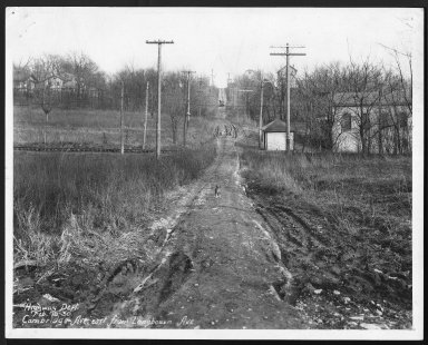 Street Improvement Photographs -- Box 21, Folder 47 (Cambridge Avenue) -- print, 1930-02-18
